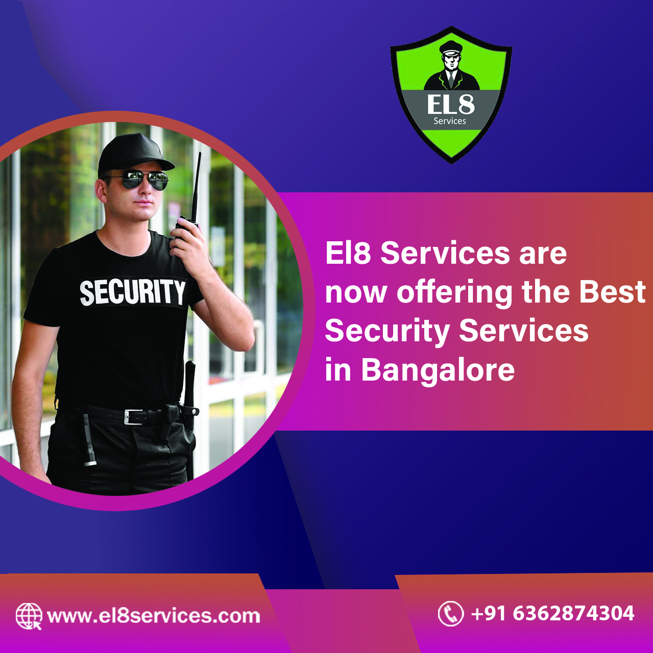 EL8 Security Guard Services Available 24x7, Dedicated Support Team,Banglore,Services,Other Services,77traders