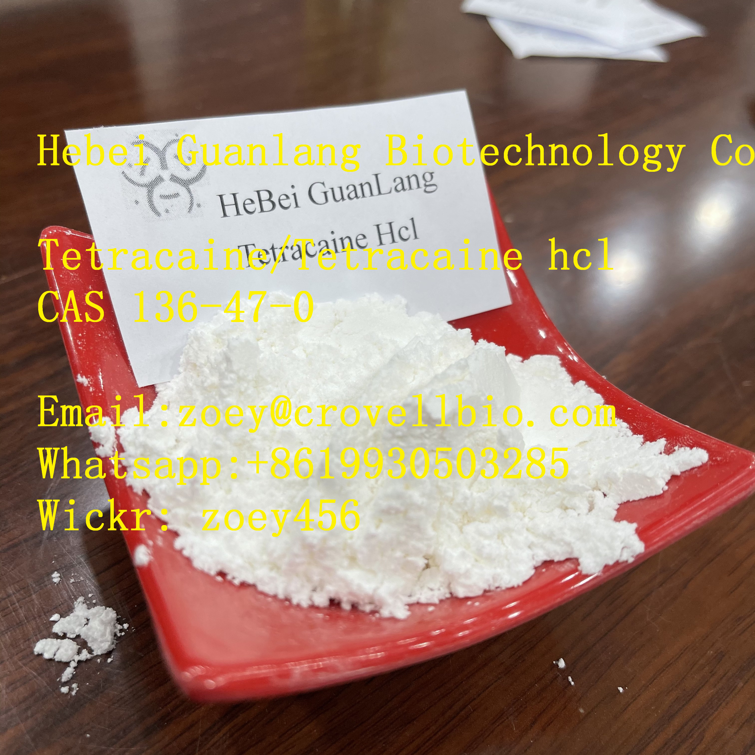 Tetracaine/Tetracaine hydrochloride China factory with low price zoey@,China,Business,Business For Sale,77traders