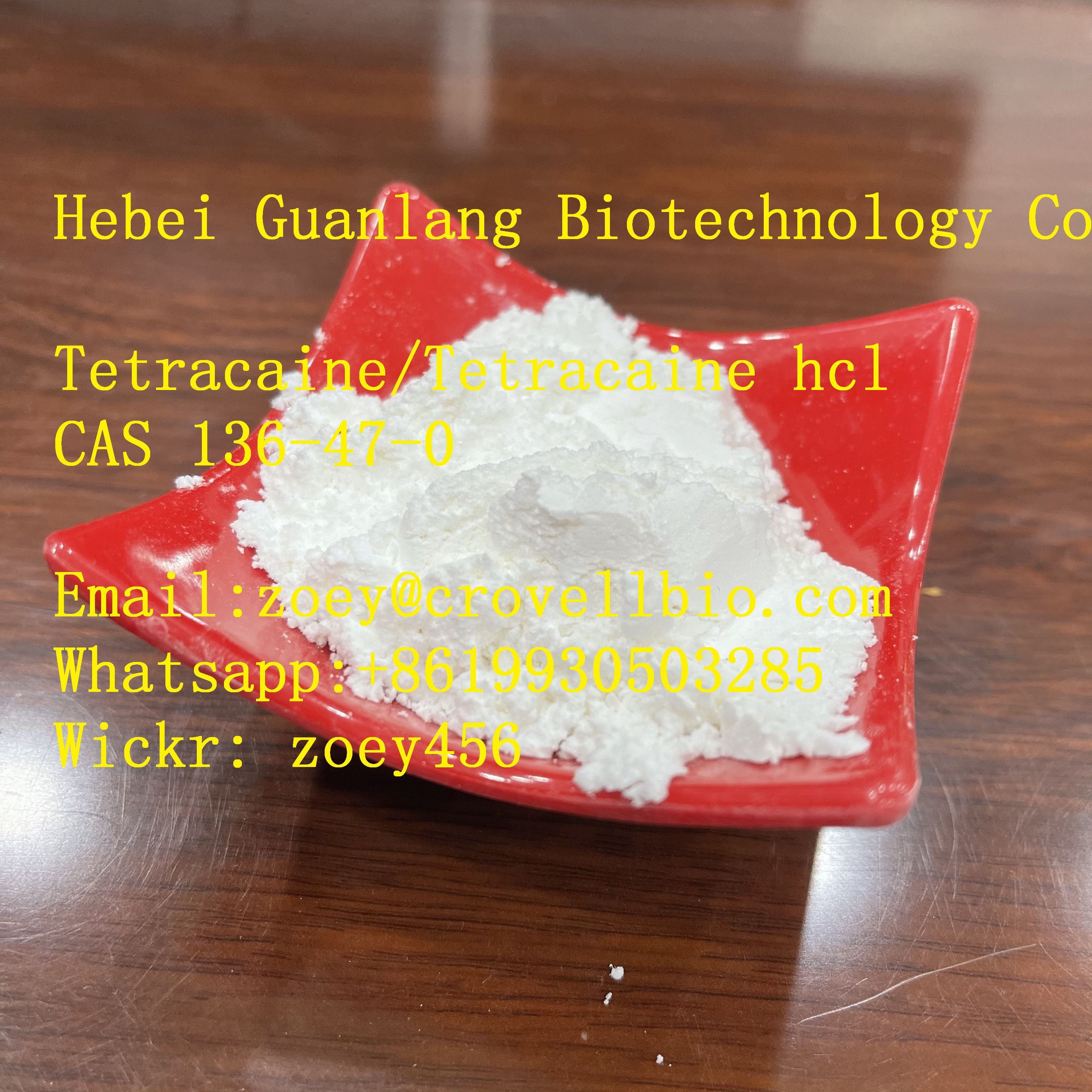 Safe delivery Tetracaine hydrochloride supplier in China CAS 136-47-0 ,China,Business,Business For Sale,77traders