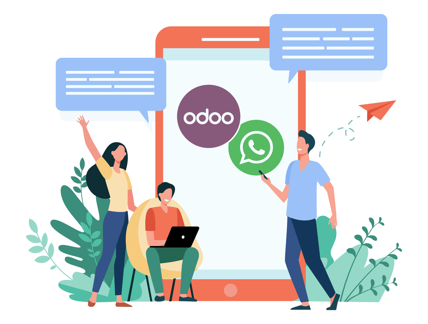 Odoo WhatsApp Integration/Connector Sales, Purchase, Account, Stock, P,Gandhinagar,Services,Other Services,77traders